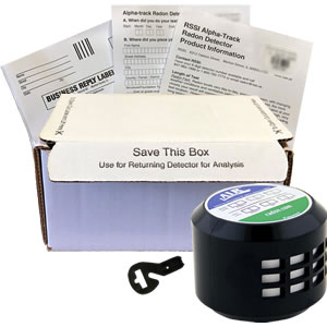 RSSI Long Term Radon Test Kit